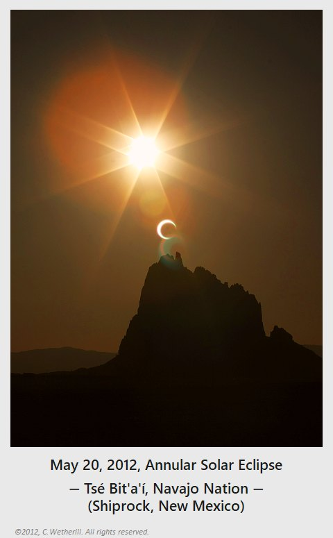 May 20, 2012, Solar Eclipse & Tsé Bit'a'í (Shiprock) Photo