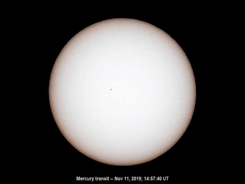 Mercury Transit Photo