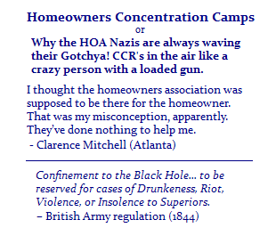 Homeowners Concentration  Camps