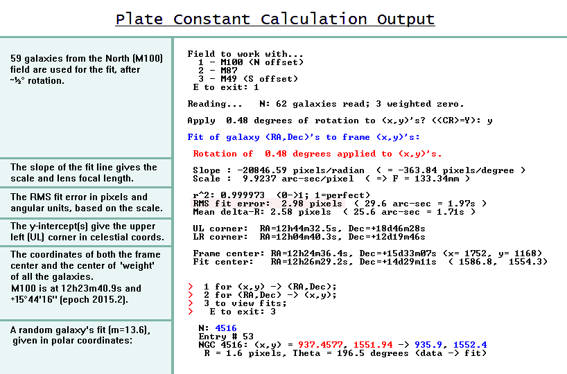 North field plate  constants