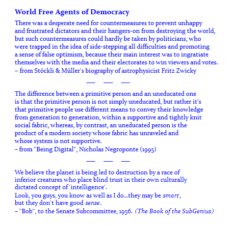 World Free Agents of Democracy